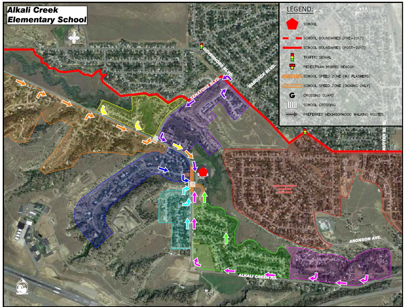 Alkali Creek School Map