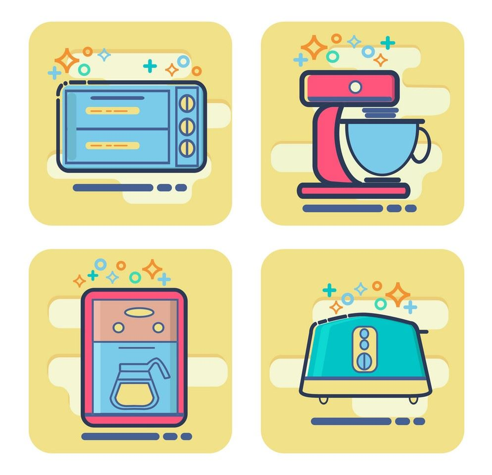 cartoon-home-appliances | VectorStocks Internet Photo