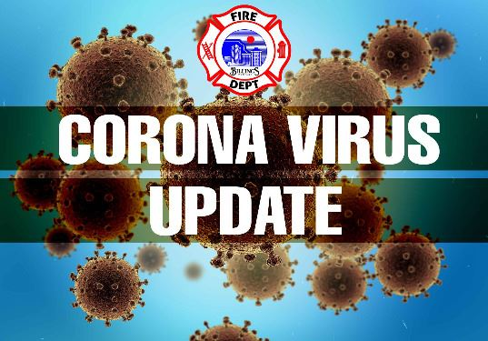 Billings Fire Department Corona Virus Graphic