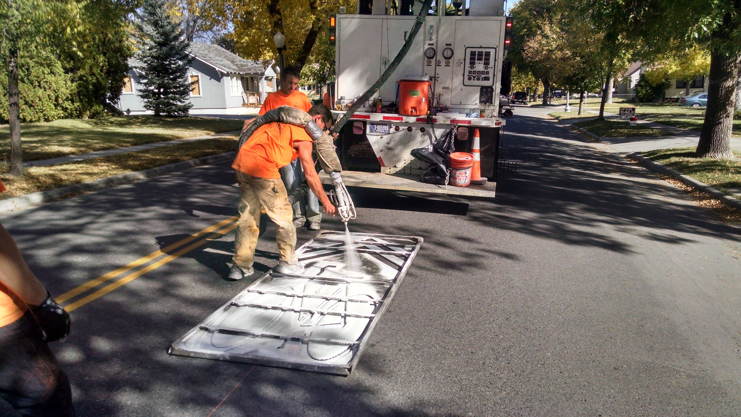 Shared Lane Marking Install