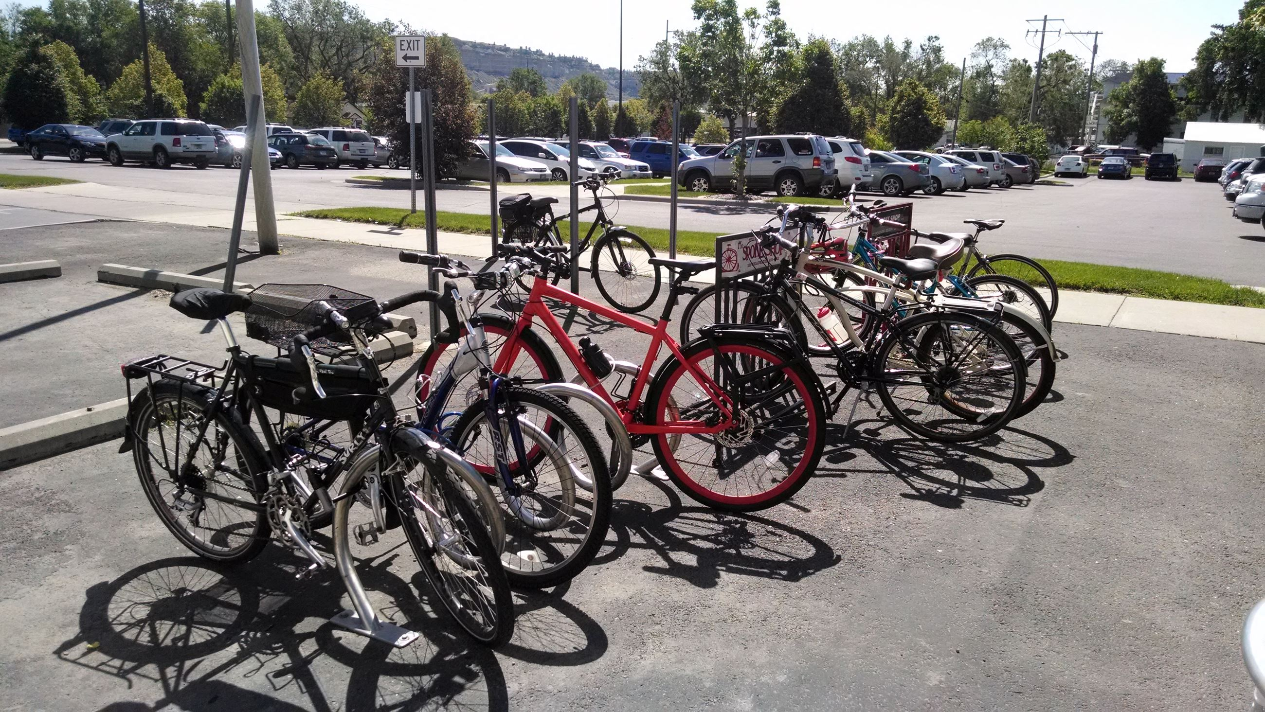 bike parking full