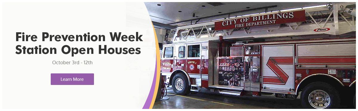 Fire Prevention Week Station Open Houses