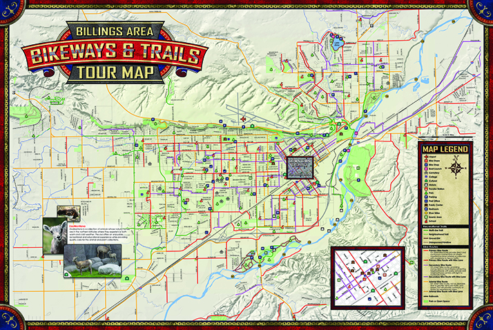 Bicycle Tour Map Billings Montana