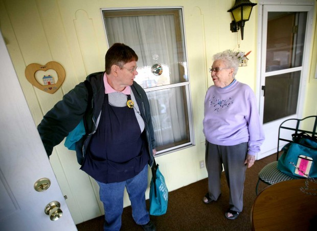 Senior Homebound Outreach delivers to a home